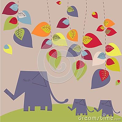 Jaskrawy słonie