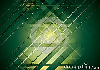 Jaskrawy - zielony zaawansowany technicznie tło. Wektorowy projekt