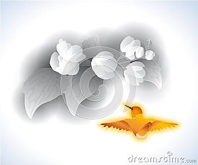 Jasmim e passarinho