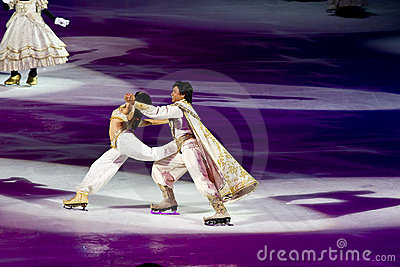 Jasmine and Aladdin Disney on Ice Editorial Photo