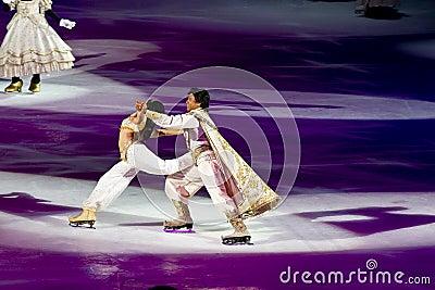 Jasmine and Aladdin Disney on Ice Editorial Photo