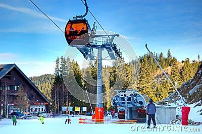 Jasna Low Tatras ski resort in Slovakia Editorial Image