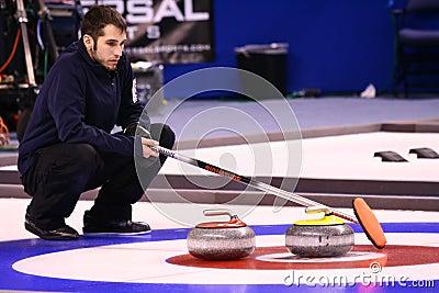 Jason Smith - USA Olympic Curling Team Athlete Editorial Photo