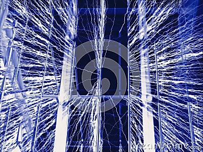 Jaula de Faraday - fondo del alambre