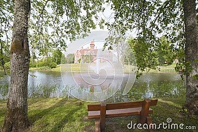 Jaunmoku castle in Latvia.