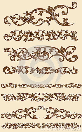Free Javanese Vintage Floral Ornament Set 1 Royalty Free Stock Photos - 27907598