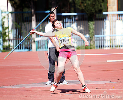 Javelin throw competition Editorial Photo
