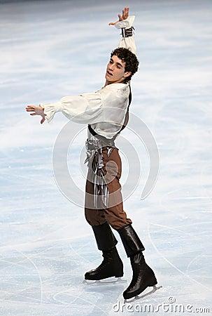 Javier FERNANDEZ (ESP) free skating Editorial Stock Photo