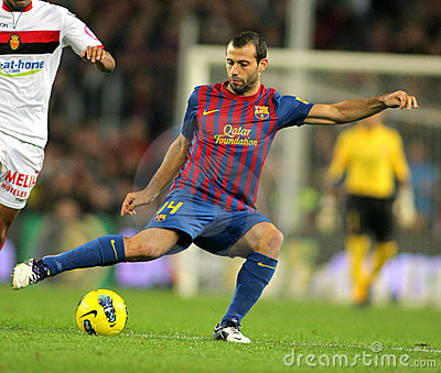 Javier Mascherano of FC Barcelona Editorial Photo