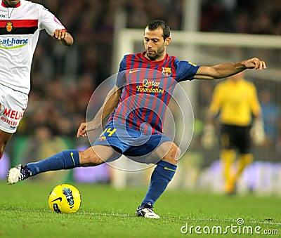 Javier Mascherano of FC Barcelona Editorial Photo