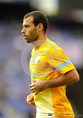 Javier Mascherano of FC Barcelona Editorial Stock Image