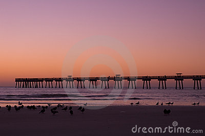 Jax Beach at Dawn