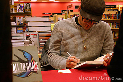Jay Bakker signs copies of  Fall to Grace  Editorial Stock Photo