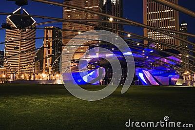 Jay Pritzker Pavilion Editorial Stock Photo