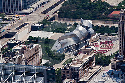 Jay Pritzker Pavilion in Millenium Park Chicago Editorial Stock Image