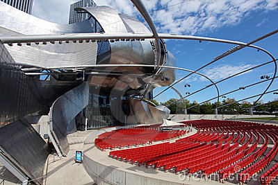 Jay Pritzker Pavilion in Millennium Park Editorial Photography