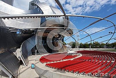 Jay Pritzker Pavilion in Millennium Park Editorial Photography