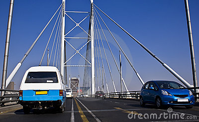 Jaywalking across Nelson Mandela Bridge