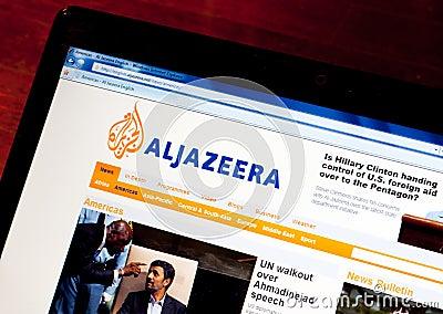 Jazeera английской языка al Редакционное Стоковое Фото