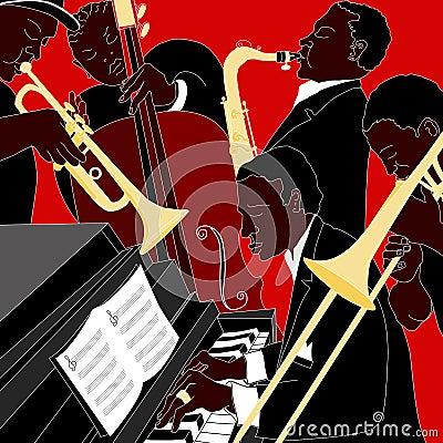 Free Jazz Band Royalty Free Stock Photo - 17876205