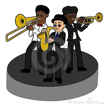 Jazz band kids trio