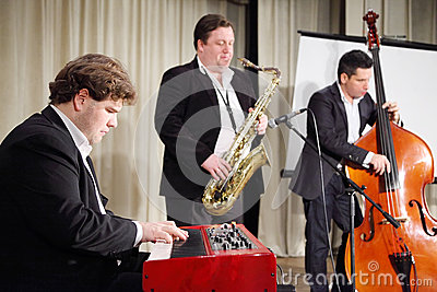 Jazz band performs Editorial Stock Photo