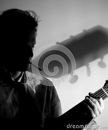 Jazz club musician