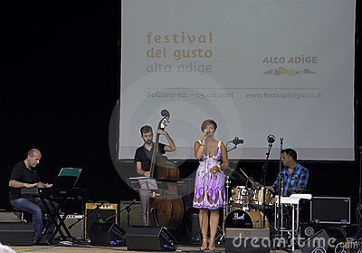 Jazz concert at the festival del  gusto Editorial Image