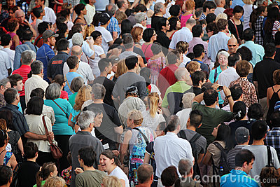 Jazz festival Crowd in Montreal Editorial Photo