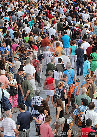 Jazz festival Crowd in Montreal Editorial Stock Photo