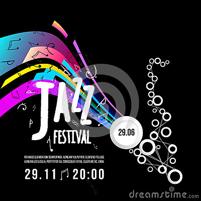 Free Jazz Festival Poster Template. Jazz Music. Saxophone. International Jazz Day. Vector Design Element Royalty Free Stock Photo - 79010325
