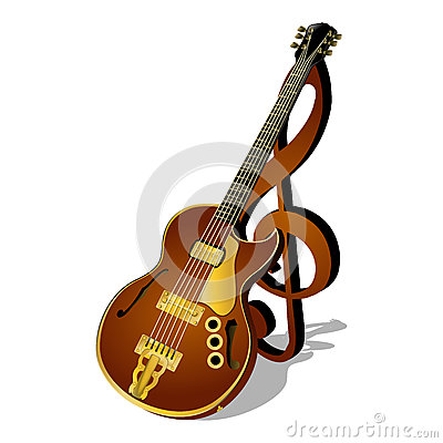 Music Poster With Treble And Bass Clef Stock Illustration - Image ...