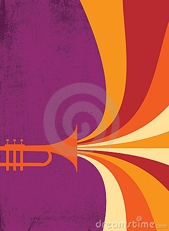 Free Jazz Horn Blast: Red, Violet Royalty Free Stock Photo - 11574095