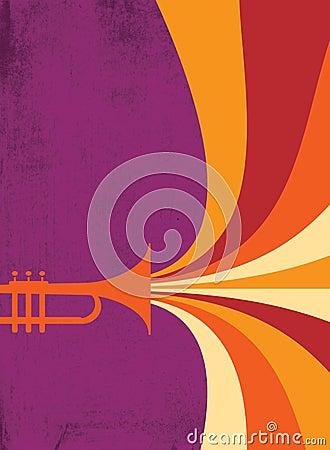 Jazz Horn Blast: Red, Violet