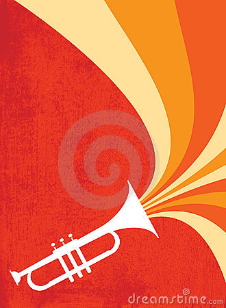 Free Jazz Horn Blast: Red_Orange Stock Photography - 11857172