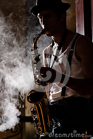 Free Jazz Is His Life Stock Image - 31869411