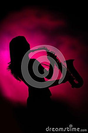 Free Jazz Lady Royalty Free Stock Images - 2456979