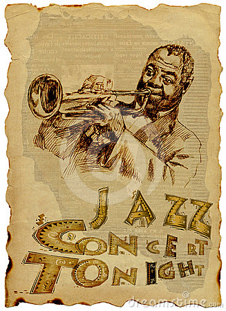 Jazz Man with the trumpet