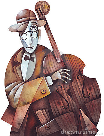 Free Jazz Man With Cello Royalty Free Stock Image - 5998736