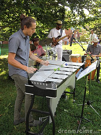 Jazz Music Band at McLean Gardens Editorial Image