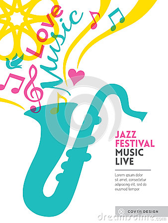 Free Jazz Music Festival Graphic Design Background Template Layout Stock Image - 39461581
