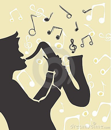 Jazz music s vector