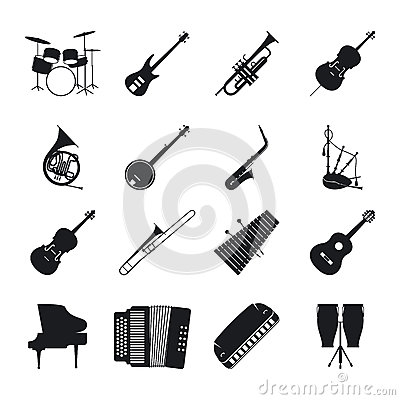 Free Jazz Musical Instrument Silhouettes Stock Photo - 76119940