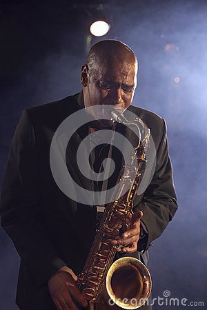 Jazz Musician With Saxophone