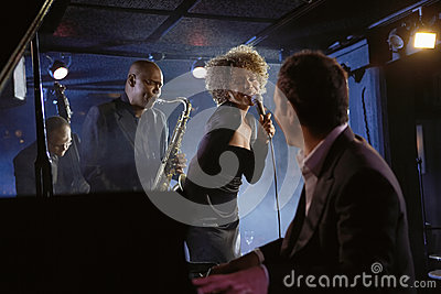 Jazz Musicians In Club