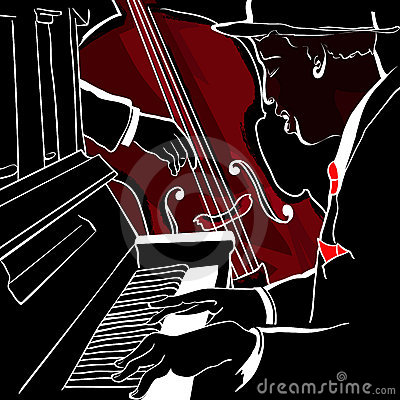 Jazz piano and double-bass
