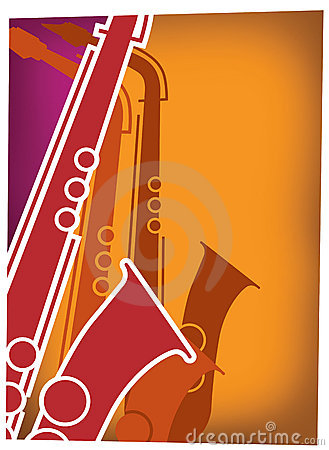 Free Jazz Sax Blast Red_Violet Royalty Free Stock Image - 12344236