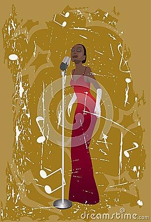 Free Jazz Singer Stock Image - 2728991