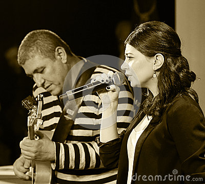 jazz singer performing Editorial Stock Image