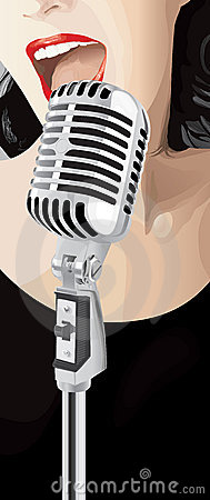 Free Jazz Singer (vector) Royalty Free Stock Photography - 3254837